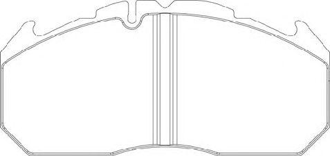 Колодки тормозные дисковые (комплект на ось) MAN (Ман) 2000,TGA, MB, KASSBOHRER, RVI Magnum,Premium фото, цена