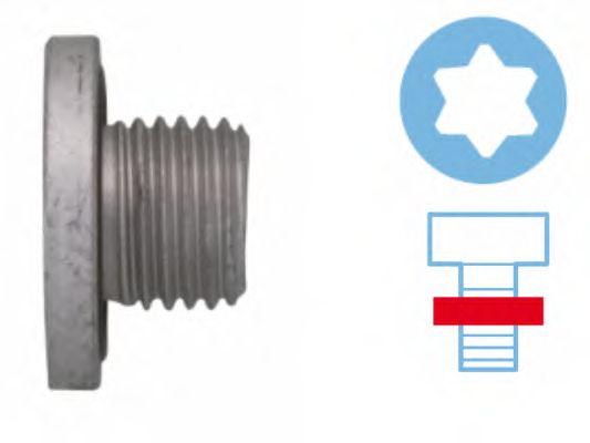Пробка слива масла OPEL (ОПЕЛЬ) M14x1.5x10.5 (пр-во Corteco) фото, цена