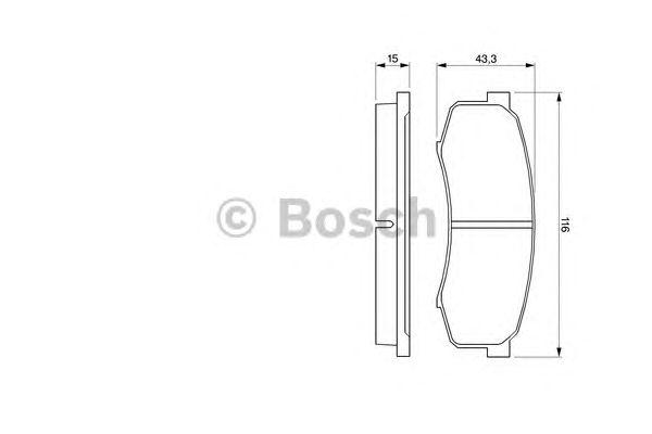Колодки тормозные TOYOTA (ТОЙОТА) LAND CRUISER задн. (пр-во Bosch) фото, цена