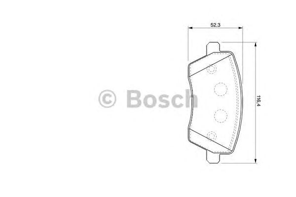 Колодки тормозные NISSAN (НИССАН) MICRA (K12), NOTE (E11) передн. (пр-во Bosch) фото, цена