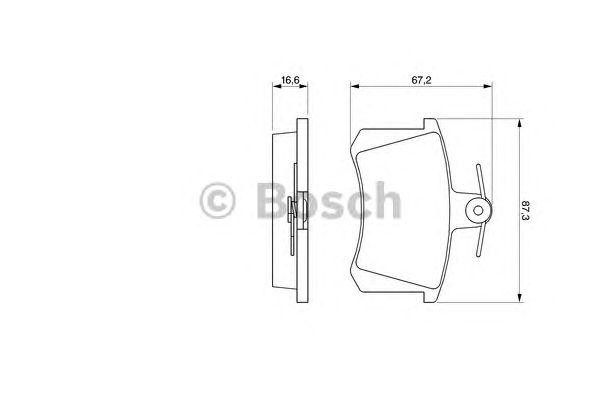 Колодки тормозные AUDI (АУДИ) 100 (пр-во Bosch) фото, цена