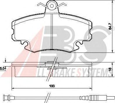 Колодки тормозные PEUGEOT/RENAULT 205/309/CLIO/EXPRESS передние (пр-во ABS) фото, цена