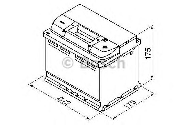 Аккумулятор   61Ah-12v BOSCH (S5004) (242x175x175),R,EN600 (1-й сорт) фото, цена