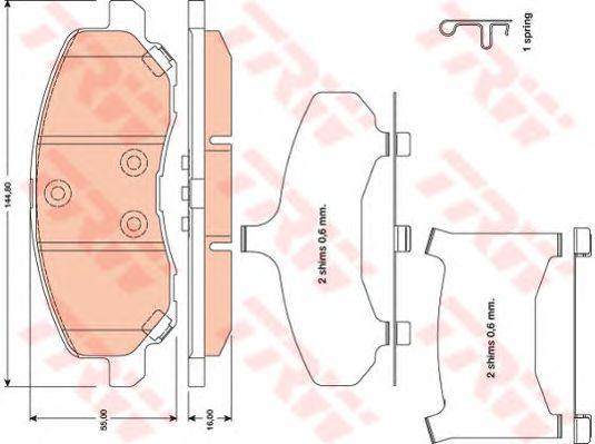 Колодки тормозные MITSUBISHI (МИЦУБИСИ) Outlander передние (пр-во TRW) фото, цена