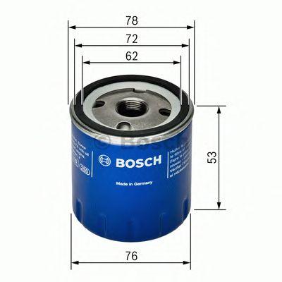 Фильтр масляный dacia, renault (пр-во Bosch) фото, цена