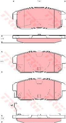 Колодки тормозные MAZDA (МАЗДА) RX8, SUZUKI, задние (пр-во TRW) фото, цена