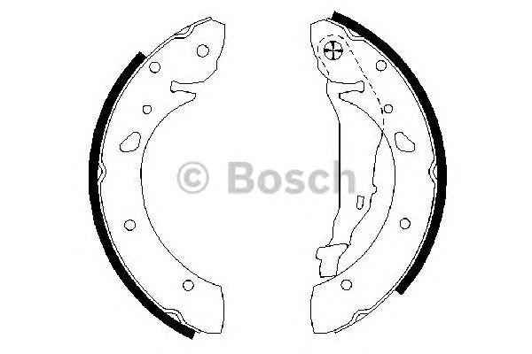 Колодки тормозные барабан. TOYOTA (ТОЙОТА) AVENSIS задн. (пр-во Bosch) фото, цена